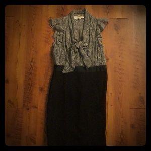 Black and Gray Dress by LOFT